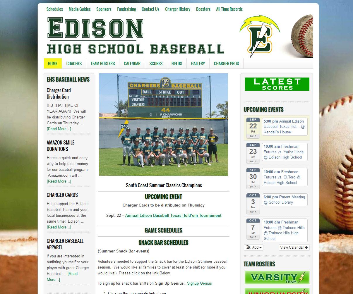 Edison High School Baseball