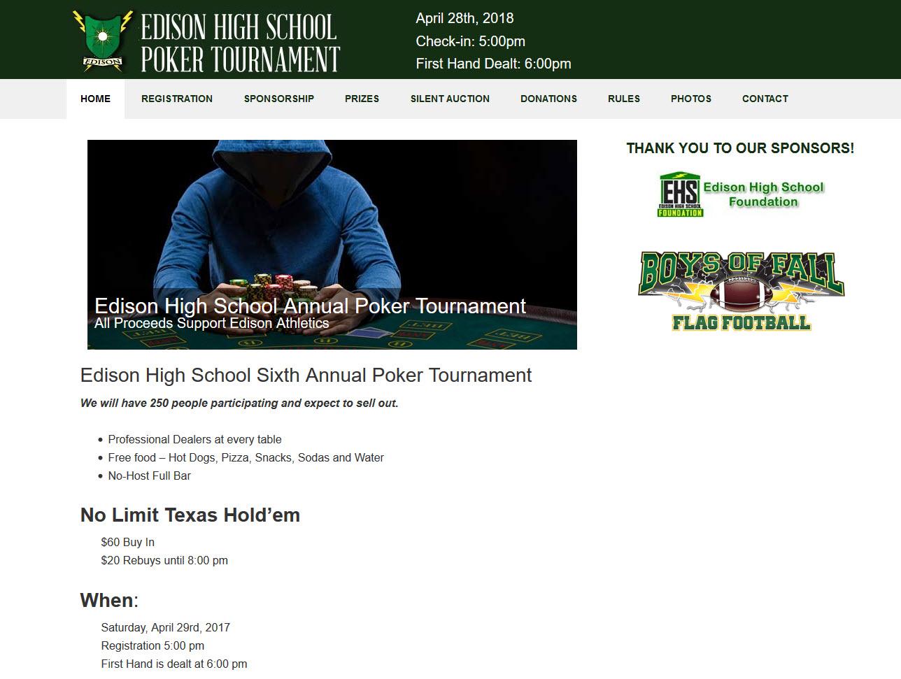 Official Edison High School Poker Tournament