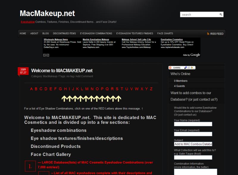 MACMakeup.net Site #1