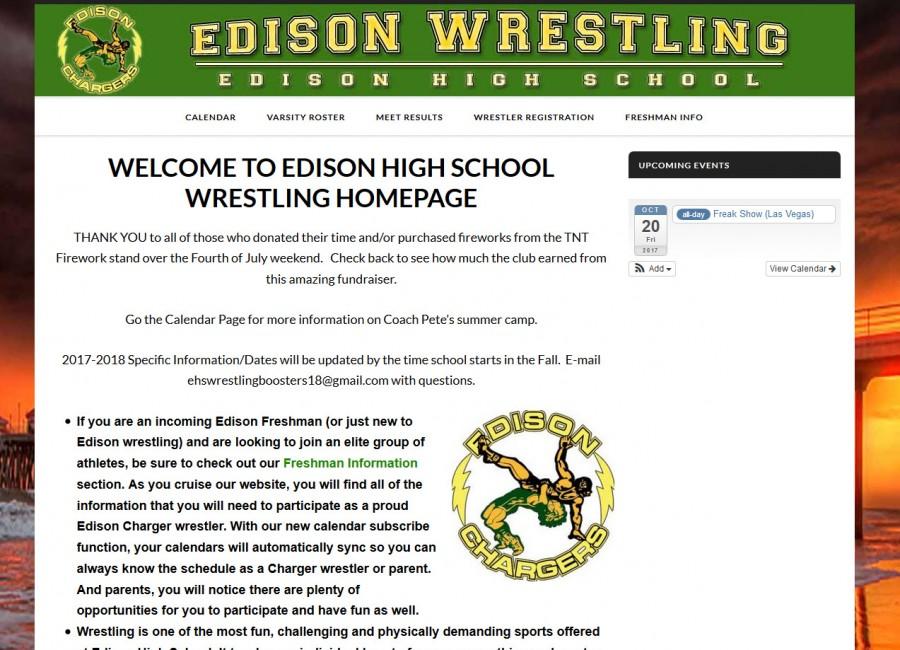 Official Edison High School Wrestling