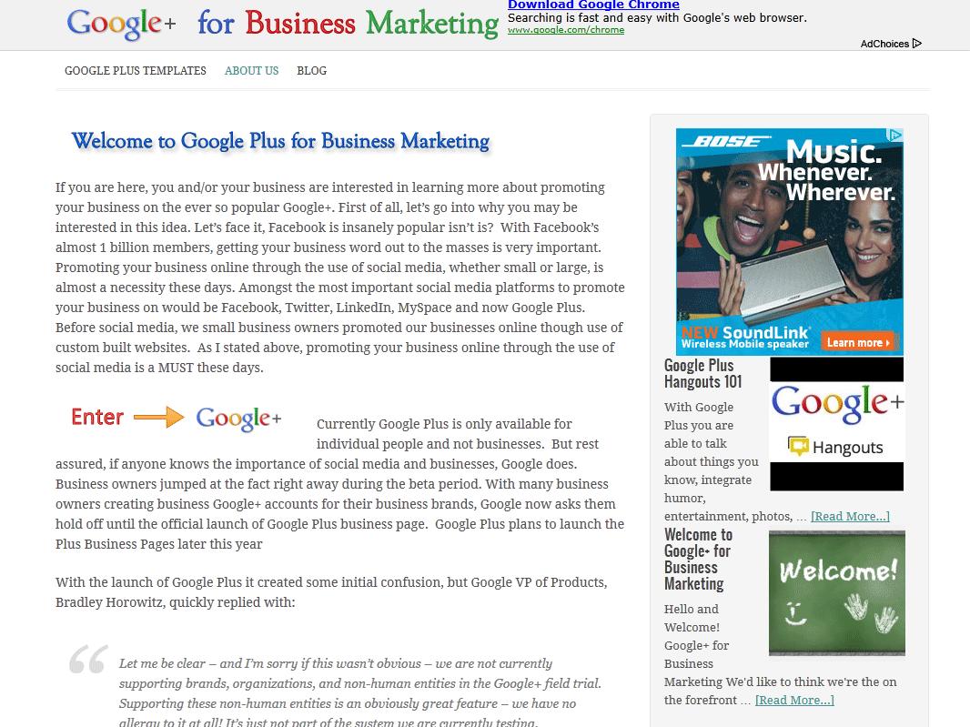 Google Plus Business Marketing