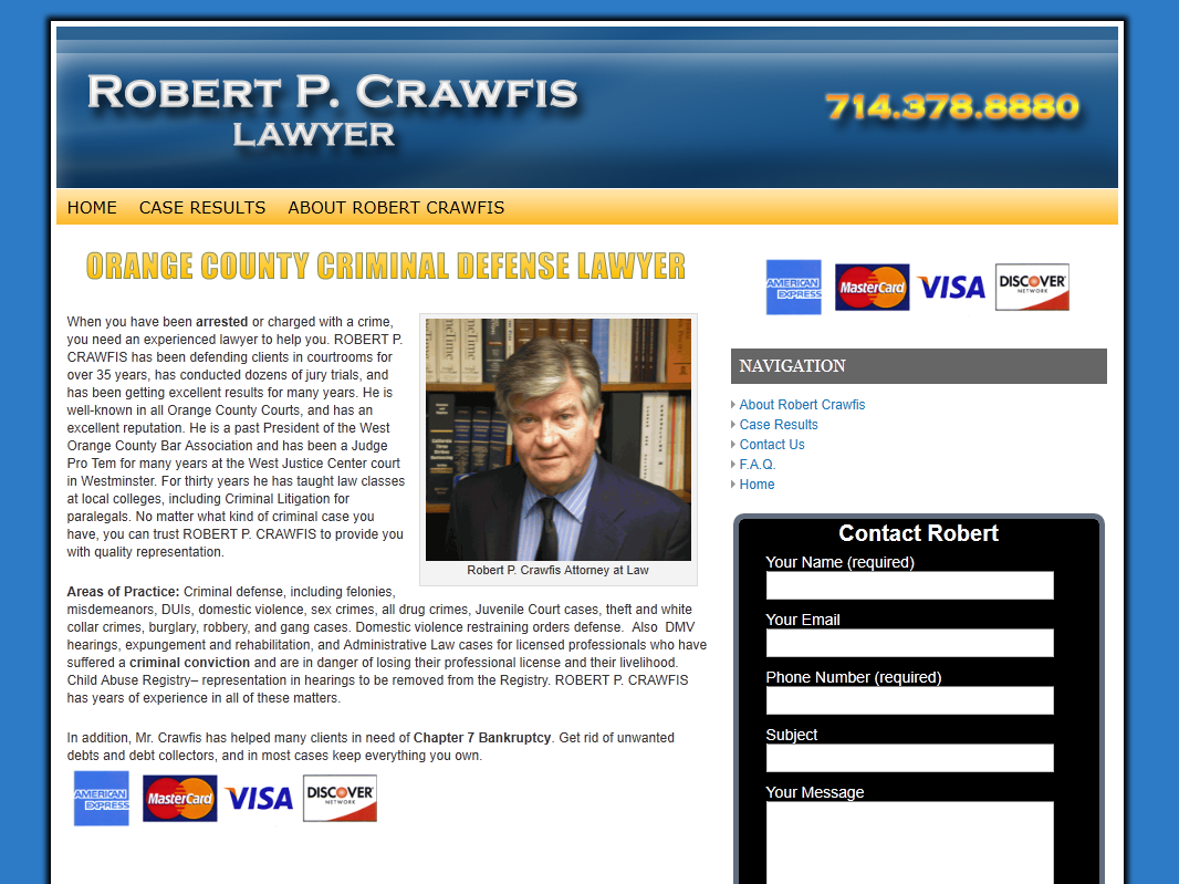 Robert Crawfis Attorney at Law