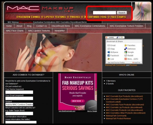 www.MacMakeup.net New Custom Search Engine