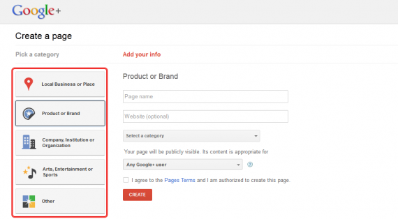 how to set up a google plus page3 570x314 How to Setup Google+ Brand Page for Your WordPress Site