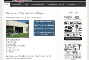 Site Design: Elite Equipment