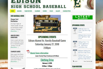 Site Design: Edison Baseball