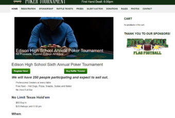 Site Design: Edison Poker Tournament