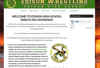 Site Design: Edison High School Wrestling