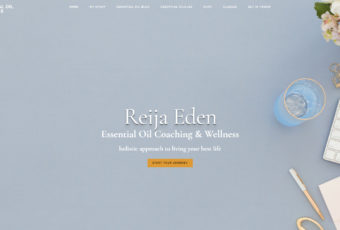 Site Design: Reija Eden Essential Oil and Life Coach