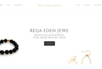 Site Design: Reija Eden Jewelry