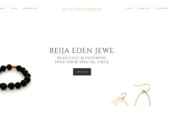 Site Design: Reija Eden Jewelry